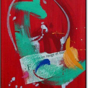 Folie en Rouge et Blanc - L16xH24 - $880