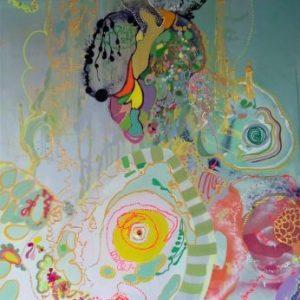 Joyful Planet acrylic painting on canvas art Vancouver
